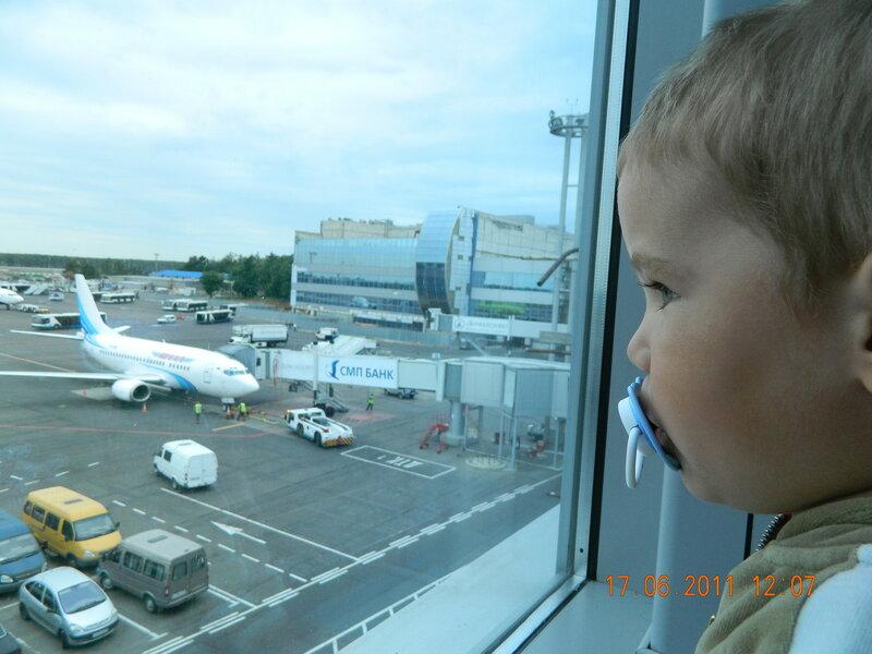 Окно в аэропорту Домодедово