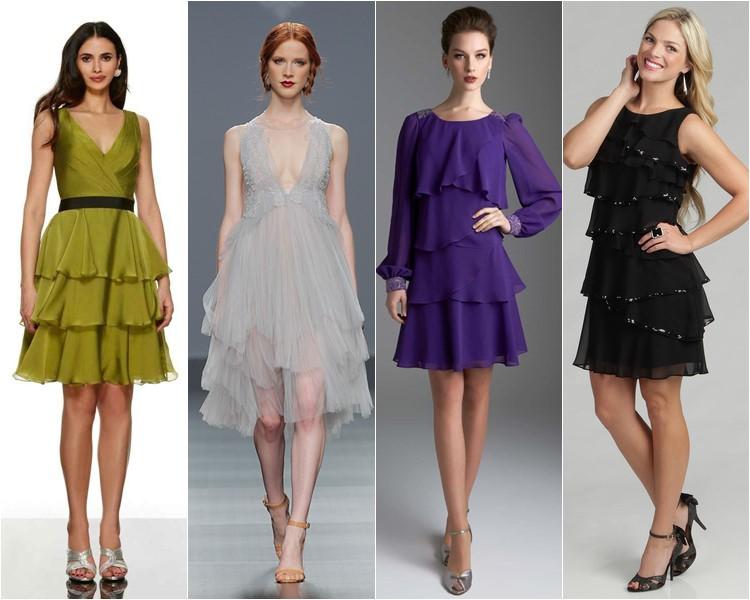 Многоярусные платья и юбки