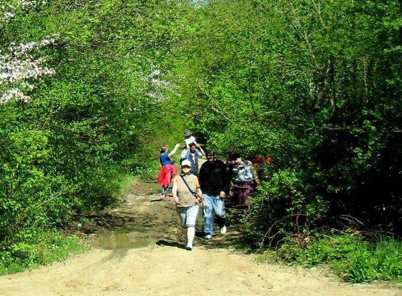 Апрель, в походе, путь к водопадам, окрестности Горячего Ключа (10).JPG