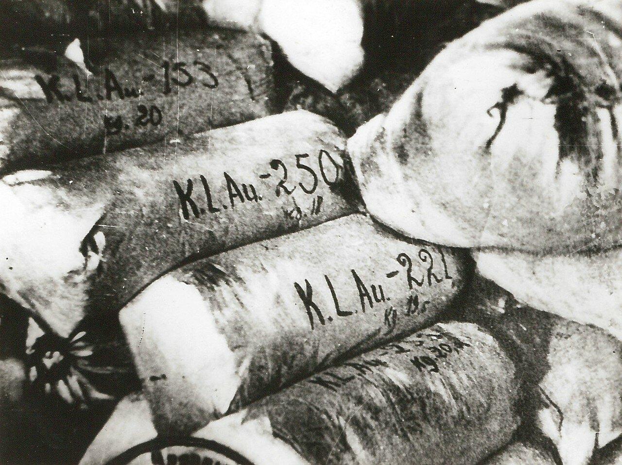 1944. Тюки с волосами убитых женщин из концлагеря Аушвиц, приготовленные для производства матрасов