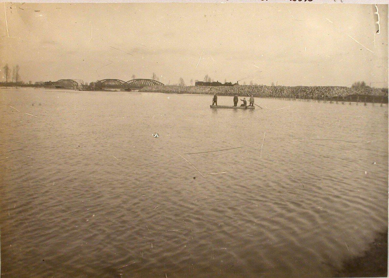 118. Река во время разлива. Галиция. ст. Трынча