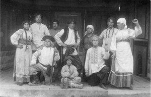 1915. Полковой театр. Полковые актеры