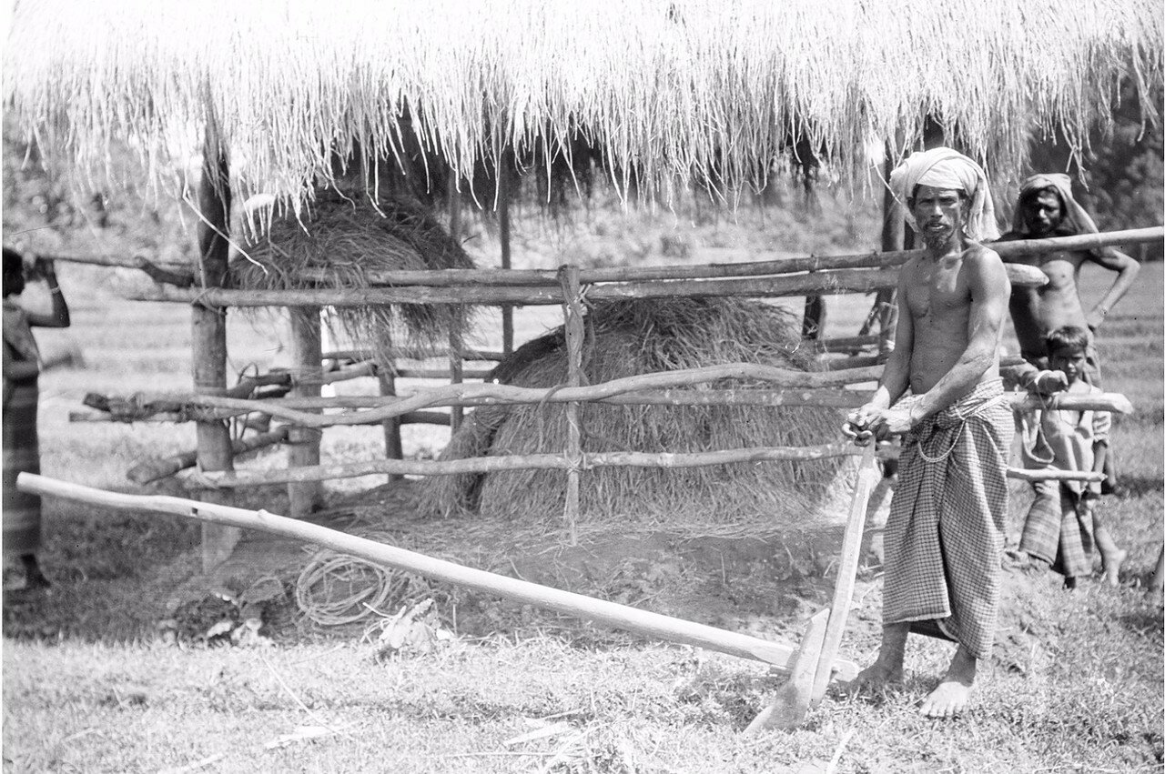 78. Портрет мужчины с деревянным плугом. Моландени