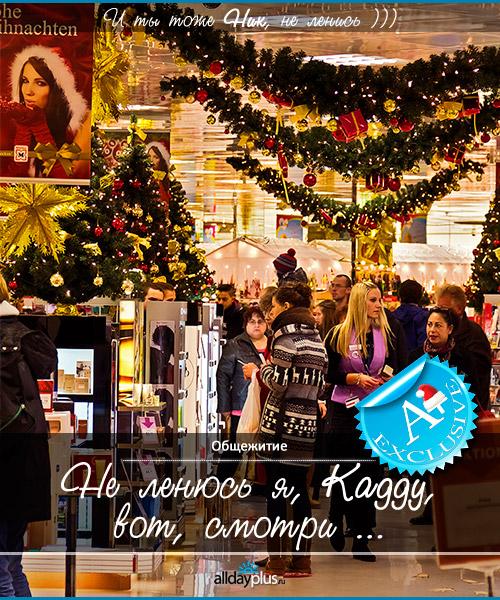 Витрины, украшенные к Рождеству