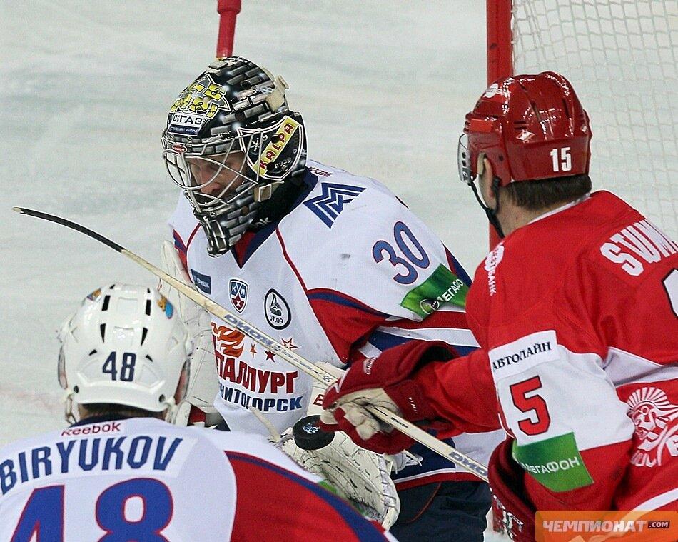 «Спартак» vs «Металлург» Мг 1:2 чемпионат КХЛ 2011-2012 (Фото)