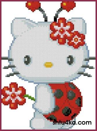 """1 раз.  Нравится Поделиться.  Рукоделие/Вышивка крестом.  Hello Kitty. a href= """"http..."""