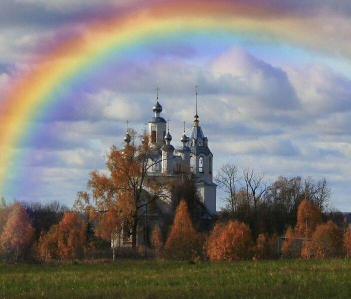 красивые картинки с церквями и радугой вас всегда вкусно