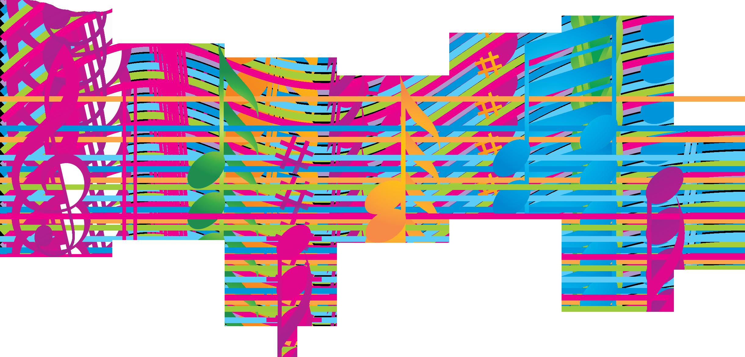 Цветные картинки с нотами