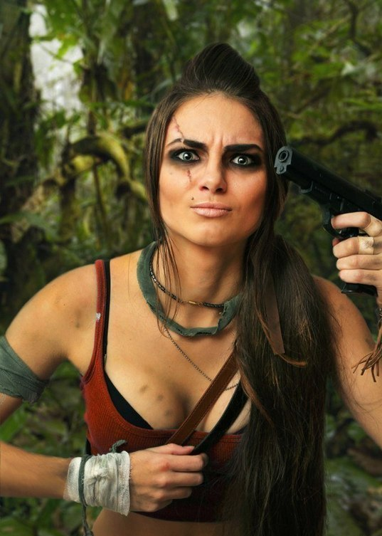 косплей девушка в роли вас монтенегро Far Cry 2