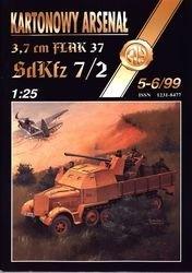 Журнал Журнал 3,7 cm Flak 37 SdKfz 7`2-Halinski Kartonowy Arsenal (5-6`1999)