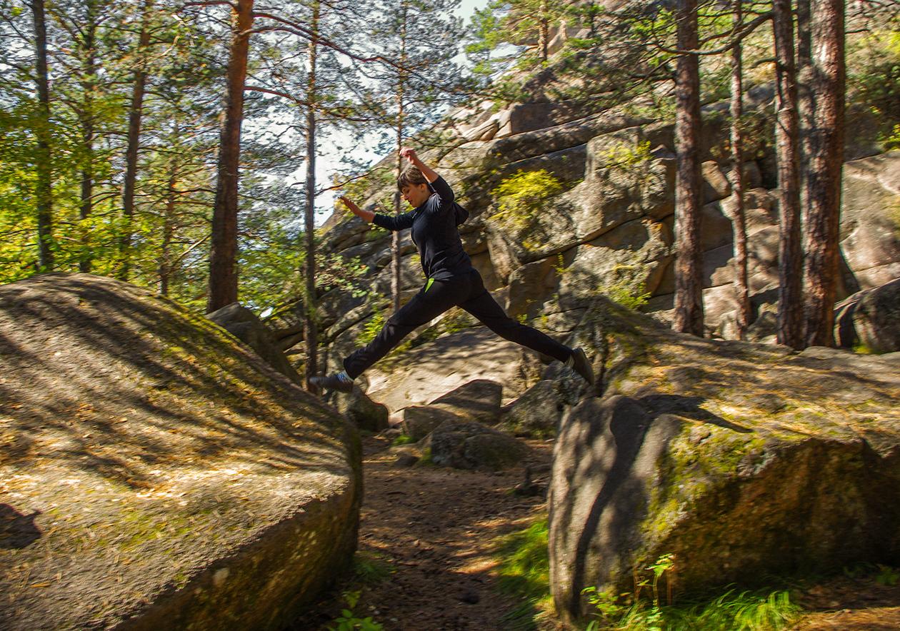 Светлана в прыжке