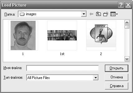 Рис. 1.13. Окно диалога для выбора графического файла
