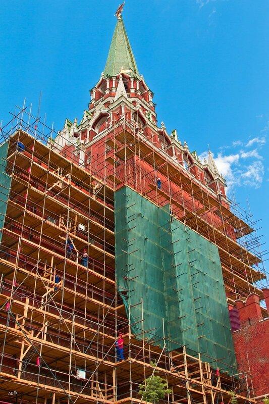 Реставрационные работы Троицкой башни