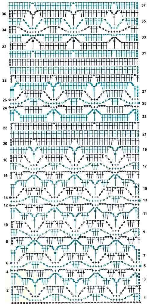Схема вязания крючком узор паучки 35