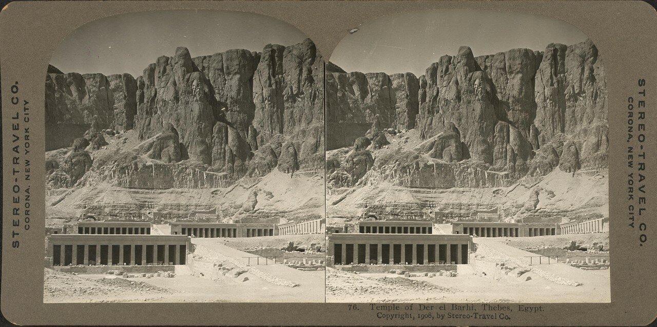 Фивы. Храм в Дейр Эль-Бархи. 1908