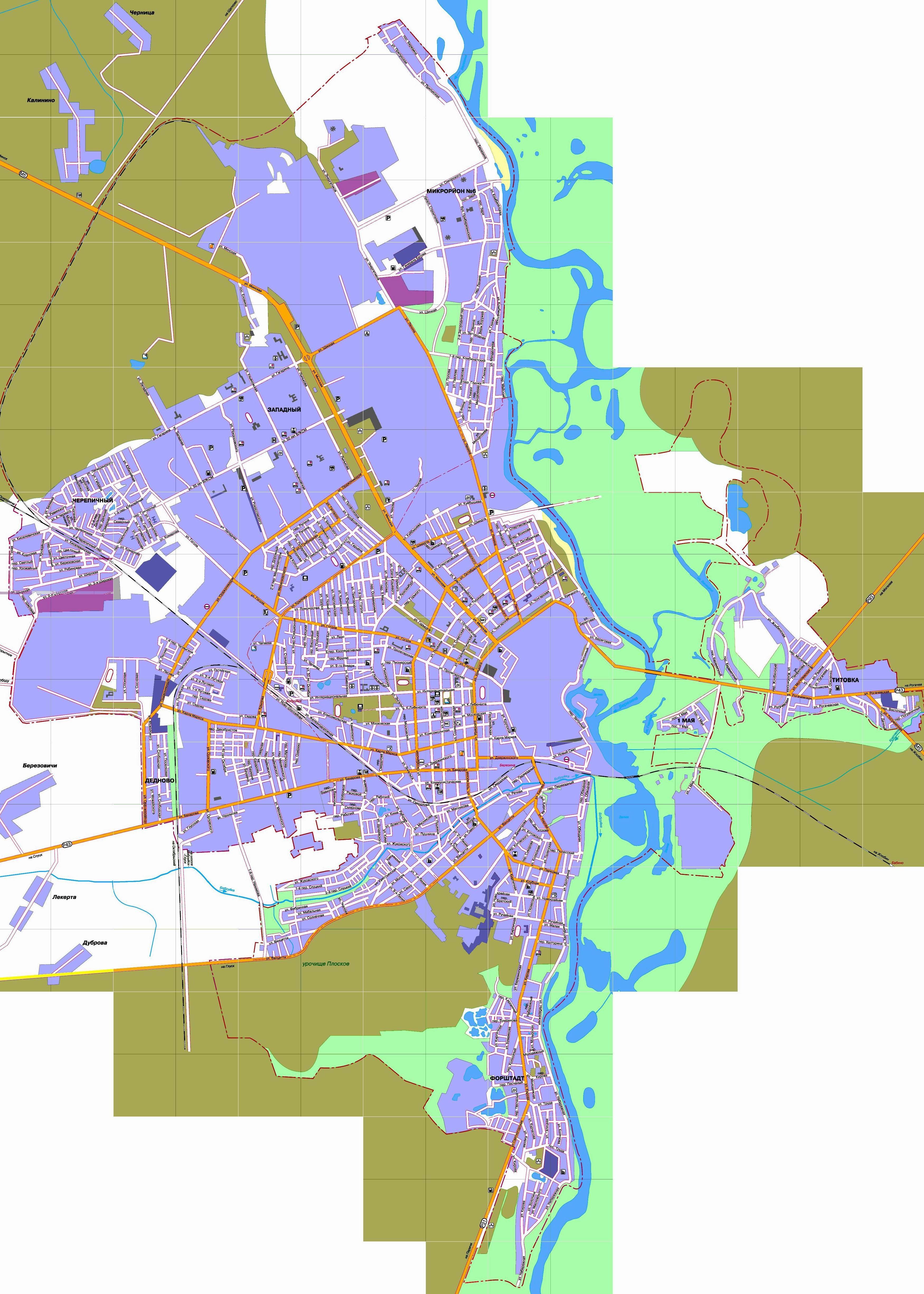 Карта Бобруйска