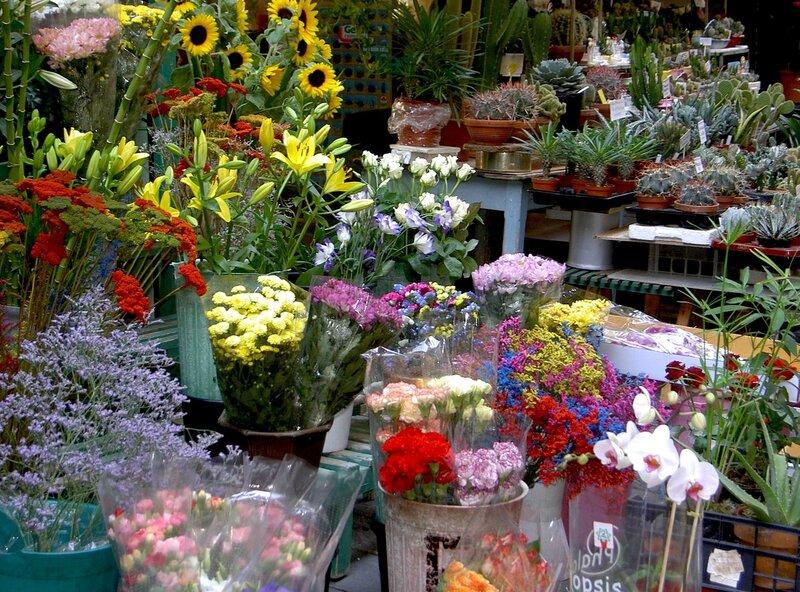 Цветочный магазин в Сан Ремо.