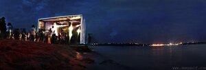 Ночь на пляже фото, панорама, ночь