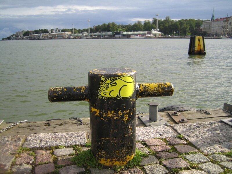 бобёр на пристани