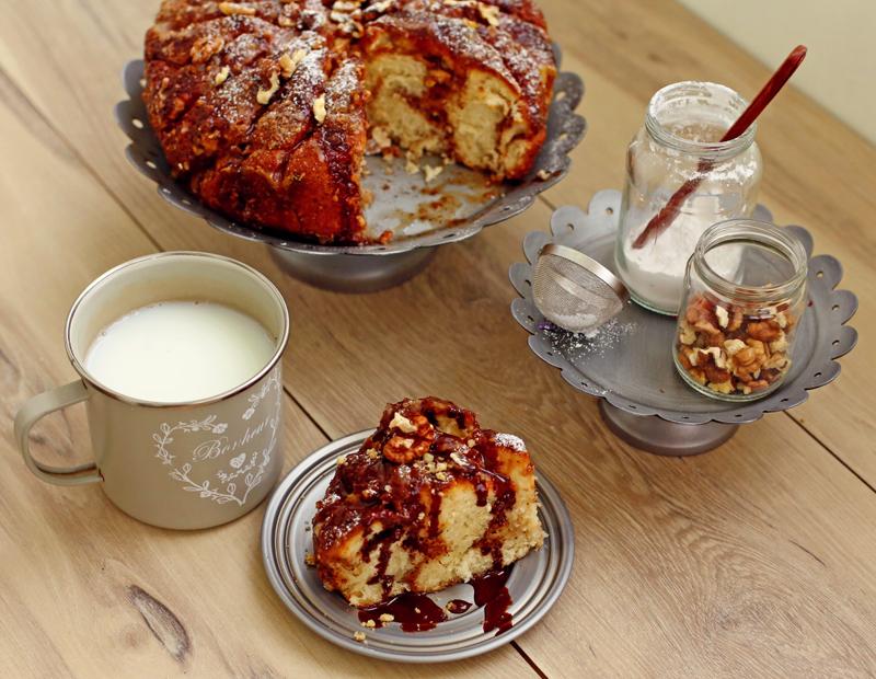 Ореховый пирог - пошаговый рецепт с фото #6.