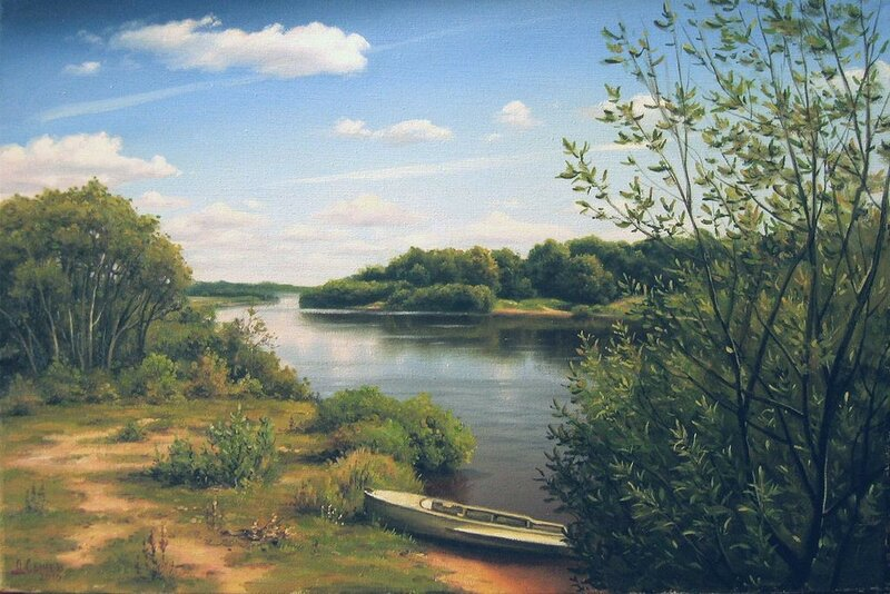 Алексей Сычёв. Пейзаж с рекой.jpg