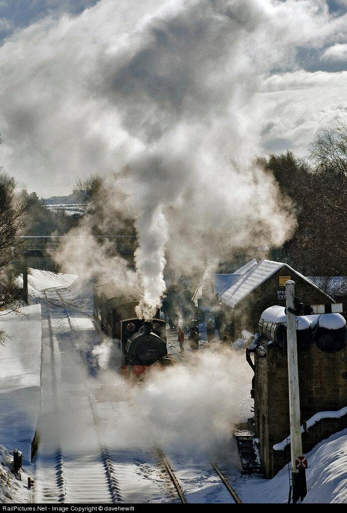 Steam 0-4-0 Tanfield Railway, Andrews House station, Gateshead, United Kingdom, February 24, 2013