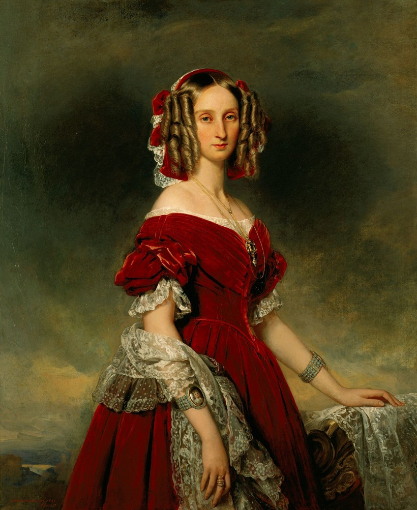 Луиза, королева бельгийцев (1812-50)  Подпись и дата одна тысяча восемьсот сорок один
