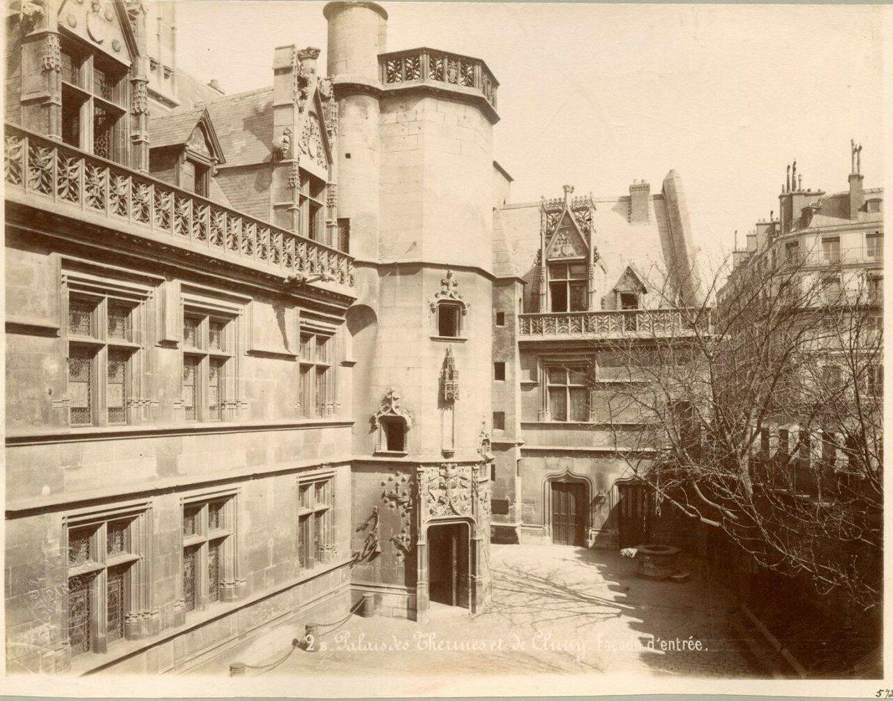 Париж. Термы Клюни. Вход.1880-е.