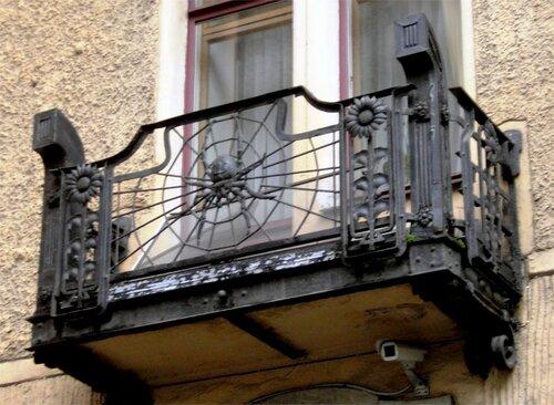 Паук на балконе дома Лидваля