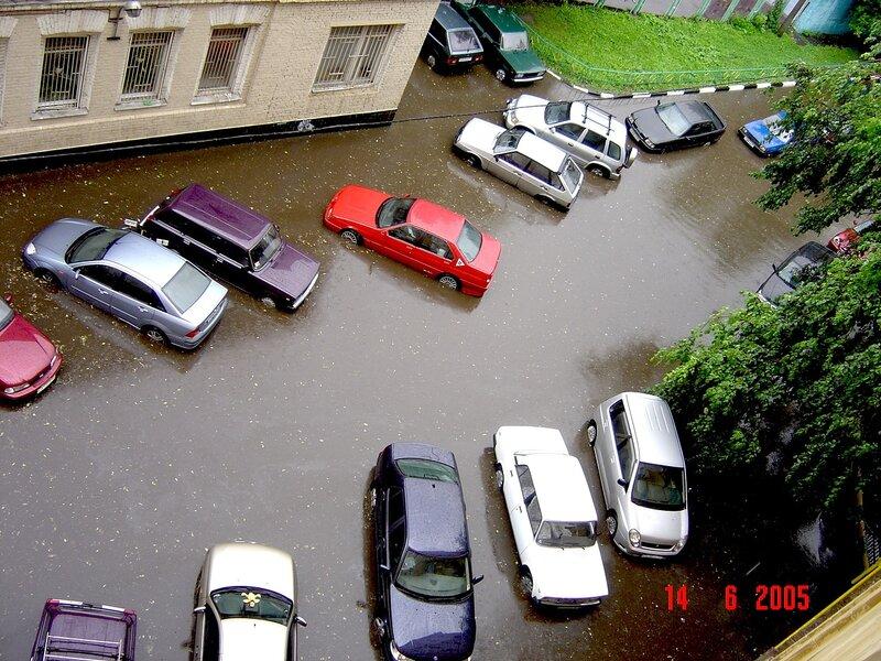 Затопило центр Москвы