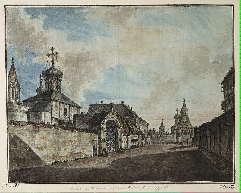 Alexeyev Fiodor - View of the Church of Our Lady of Greben and Vladimir (Nicholas) Gate in Kitai-Town - JRR-6535