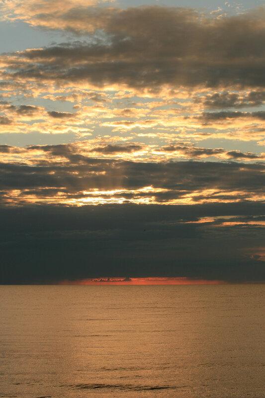 Закат в Зеленоградске