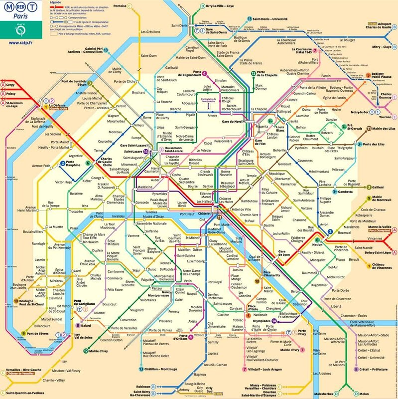 Transit Map of Paris.