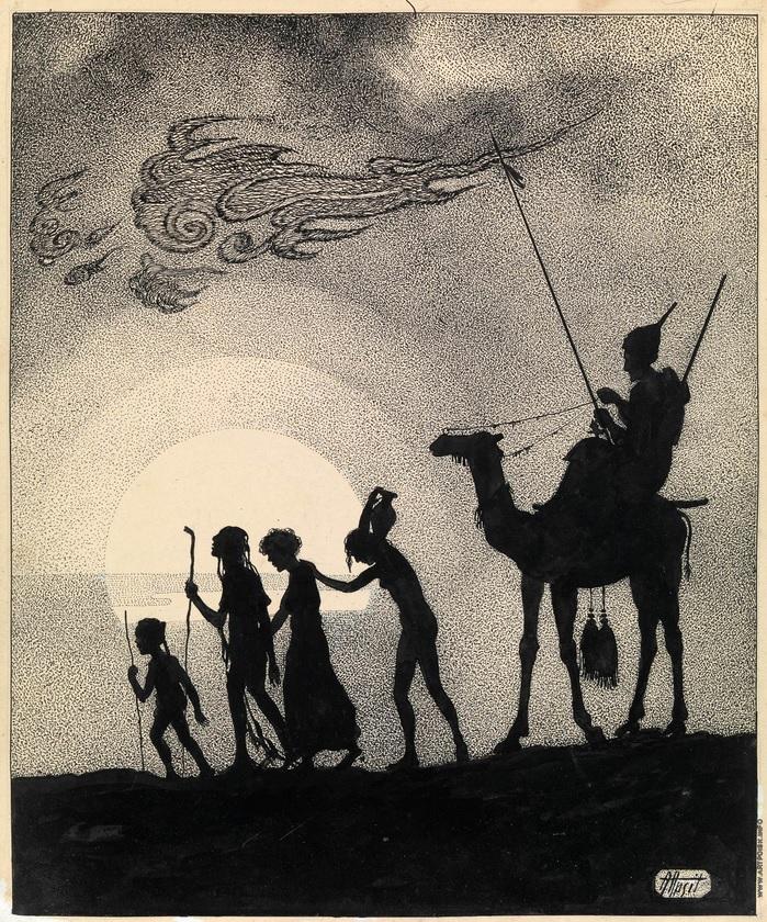 """Иллюстрация к """"Тысяча и одной ночи""""  Апсит Александр Петрович (1880—1944)(5)"""