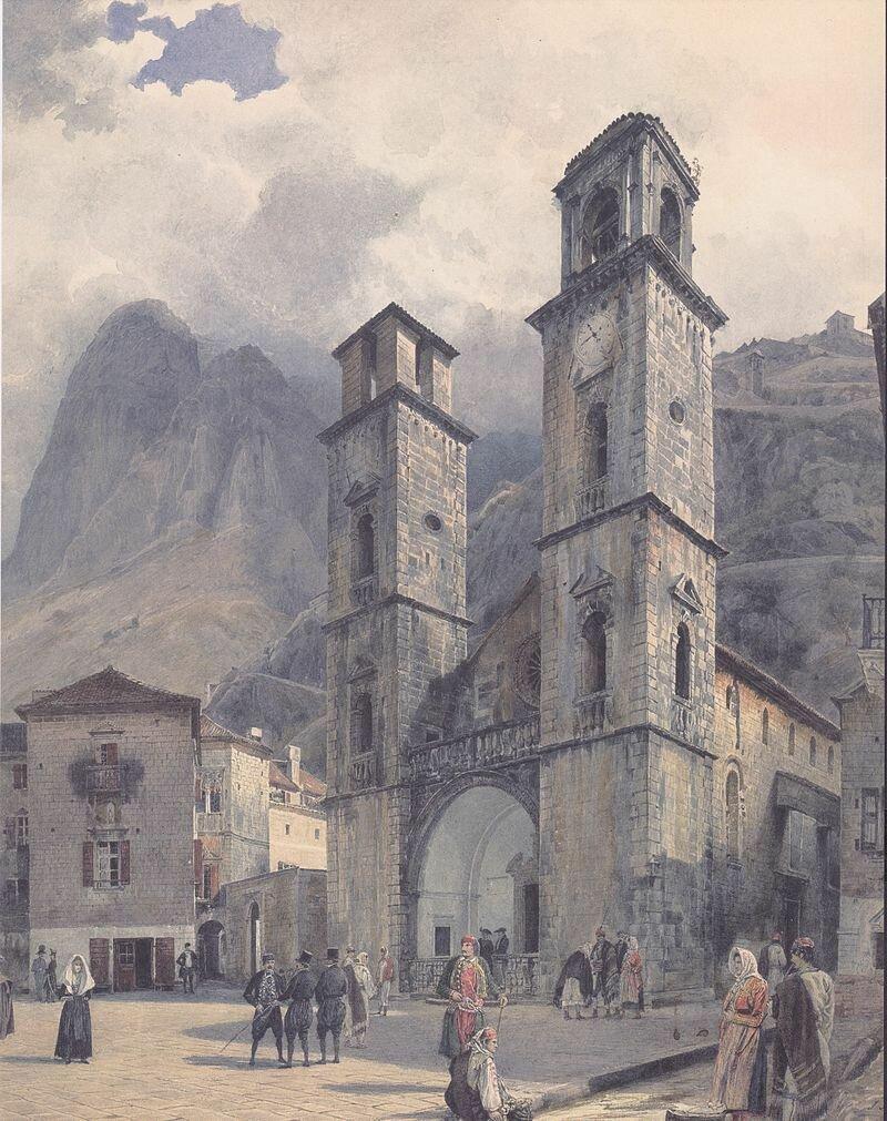 800px-Rudolf_von_Alt_-_Der_Domplatz_von_Cattaro_-_1841.jpg
