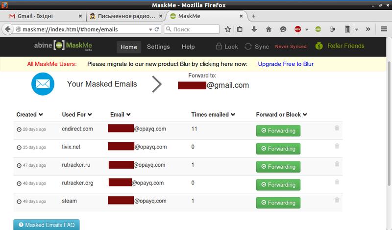 скрыть свой e-mail адрес