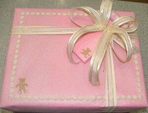 Подарочная упаковка для девочки (рождение, крещение)
