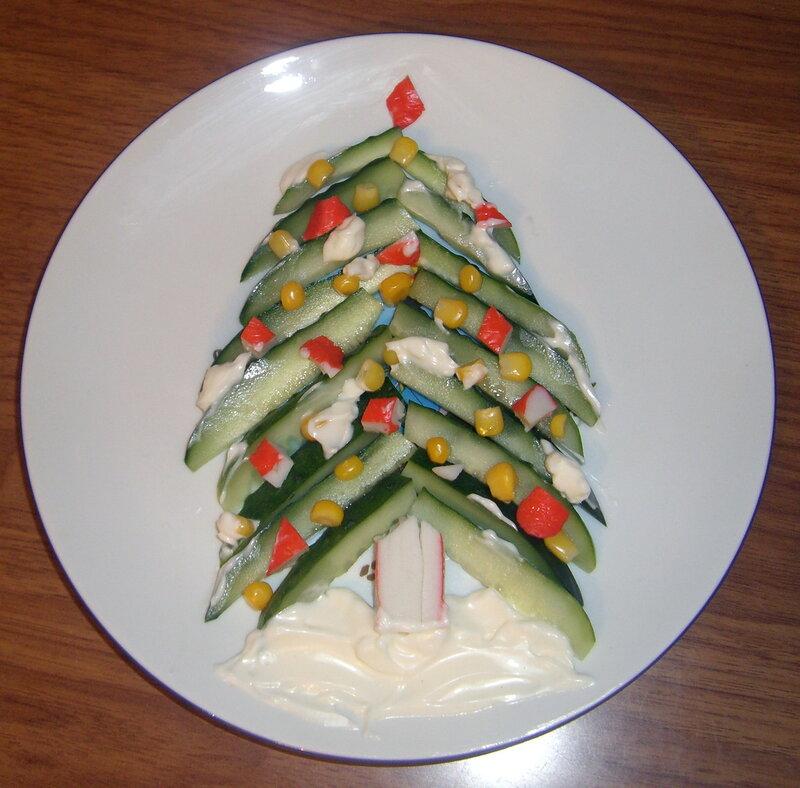 Новогодние елки из продуктов