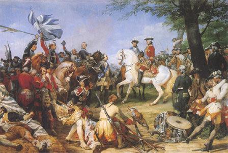 le maréchal de Saxe et Louis xv à la bataille de Fontenoy (11 mai 1745), par Horace Vernet (musée du château de Versailles)