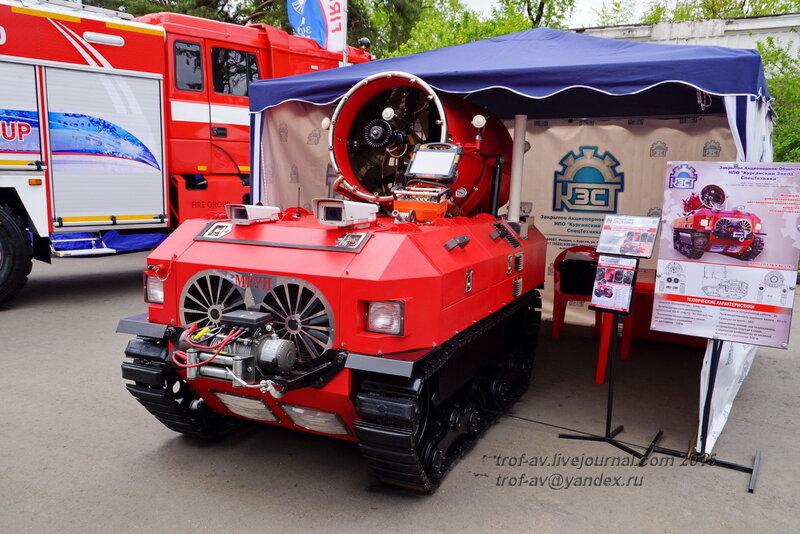 Роботизированная установка пожаротушения МРУП-СП-Г-ТВ-У-40-17КС, Выставка Комплексная безопасность 2015, Москва