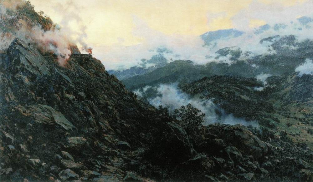 Старый Сурамский перевал 1891 холст масло 127 х 210 см ГТГ.jpg