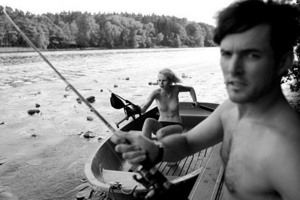 рыбалка с девушкой