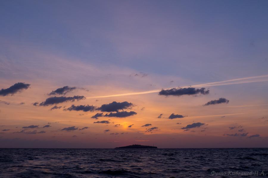 Остров Змеиный на рассвете
