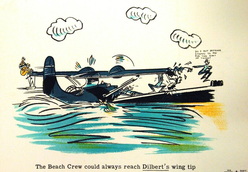 The Beach Crew could always reach Dilbert's wing tip