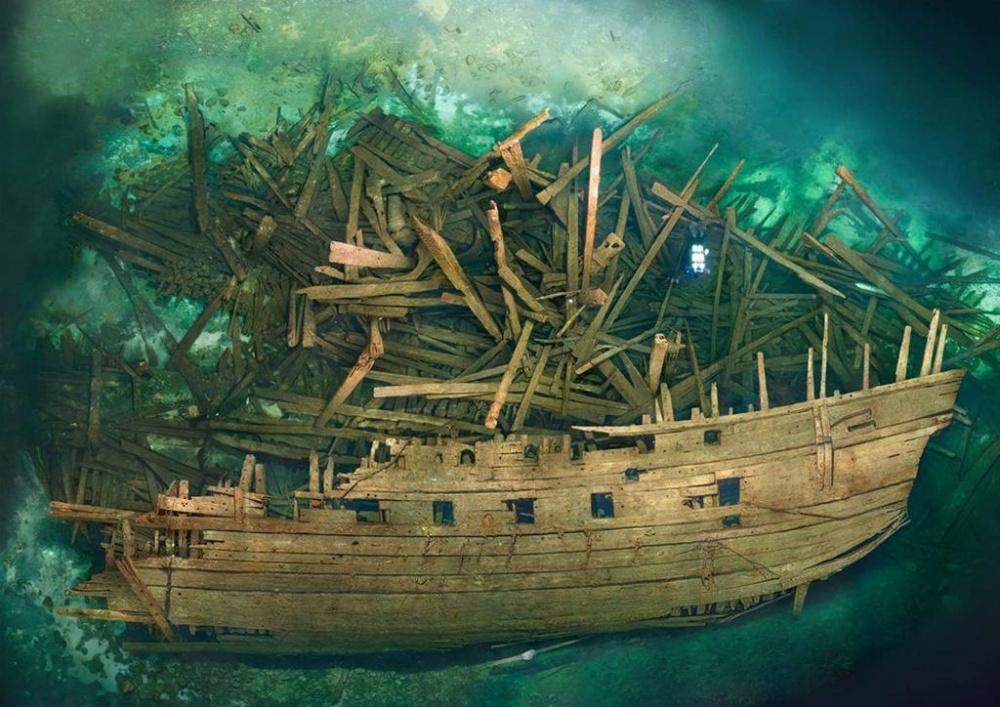 ВБалтийском море в10морских милях отострова Эланд лежит самый большой вмире корабль XVI века—