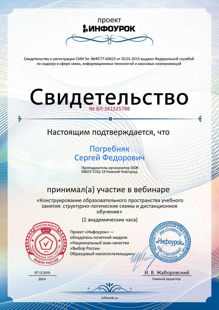 Свидетельство проекта infourok.ru № ВЛ-261525788.jpg
