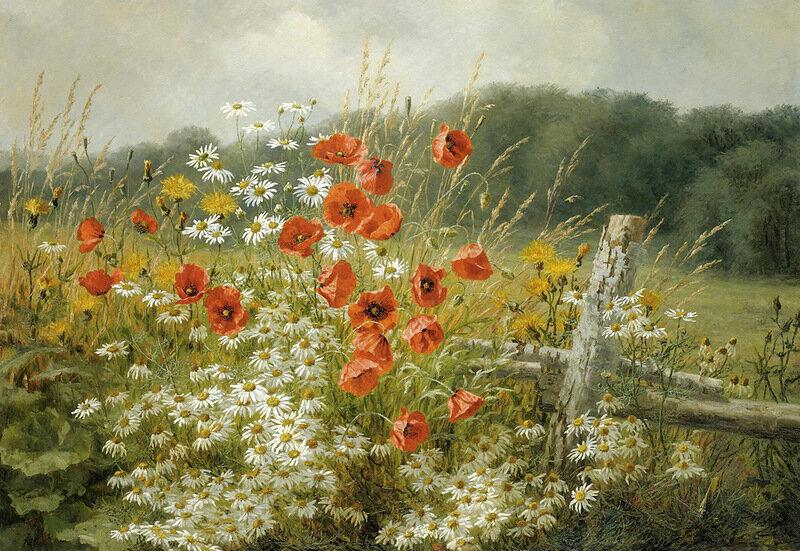За околицей - поле,  я иду по тропинке... Датский художник Anthonore Christensen (1849-1926)