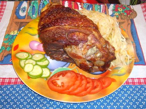 Вепрево колено по-чешски в духовке рецепт с пошагово
