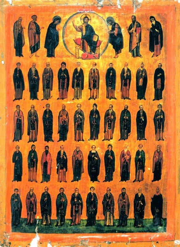 Собор Синайских Преподобных. Византийская икона.
