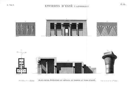 Северный храм бога Хнума в Эсну (Латополь), чертежи
